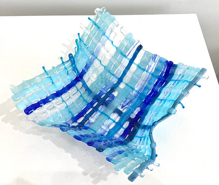 Origami weave blue and clear