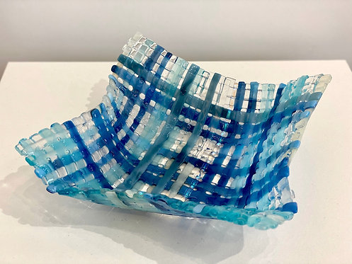 Origami glass weave bowl.