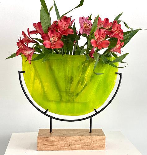 Lime Green Geometric vase/sculpture