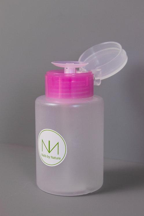 Pump bottle for nail liquids