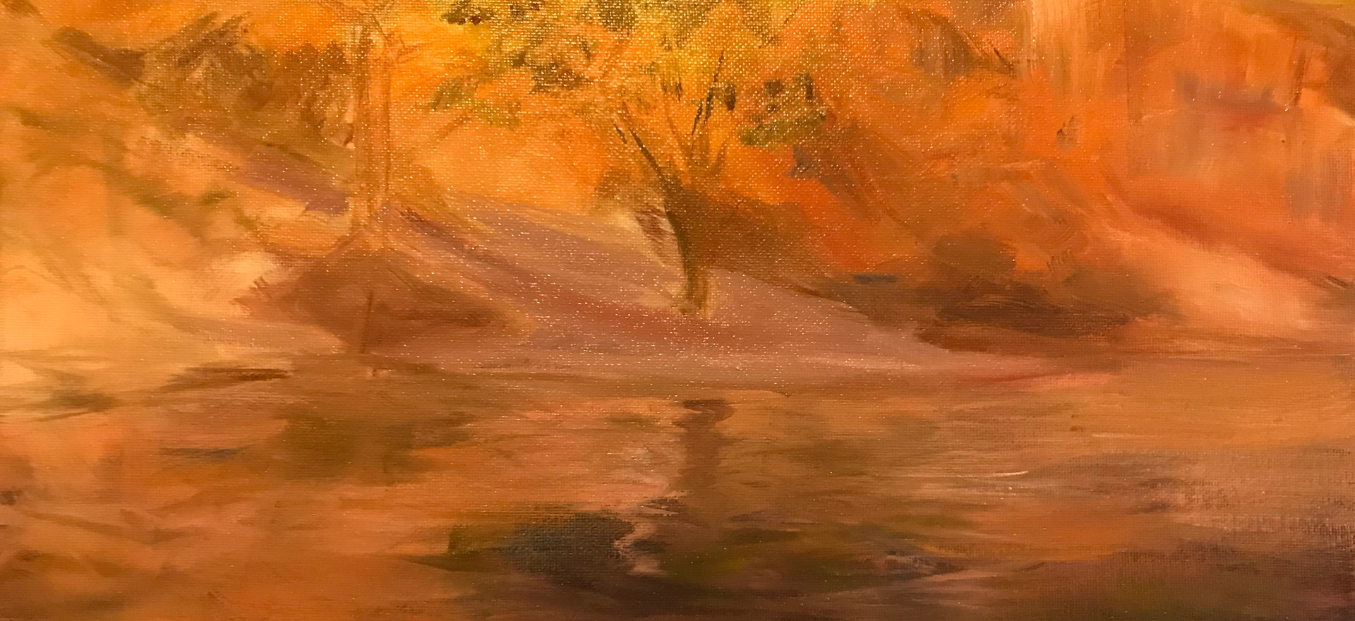 red riverbank by Catherine Fox