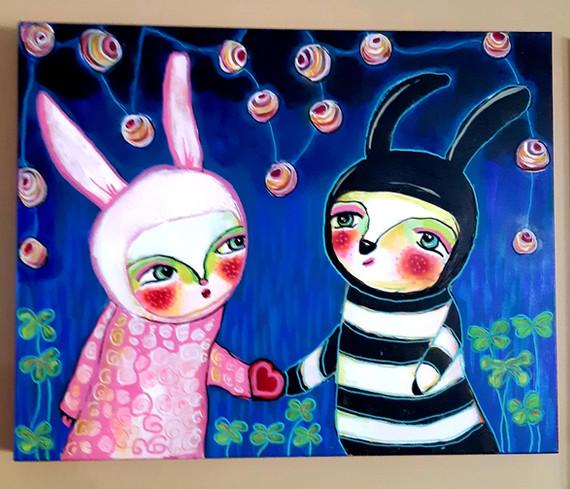 Party Bunnies by Gail Camacho