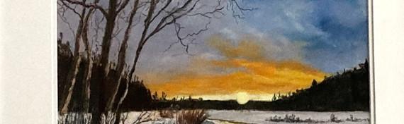 Winter Sunset by Pam Alexander