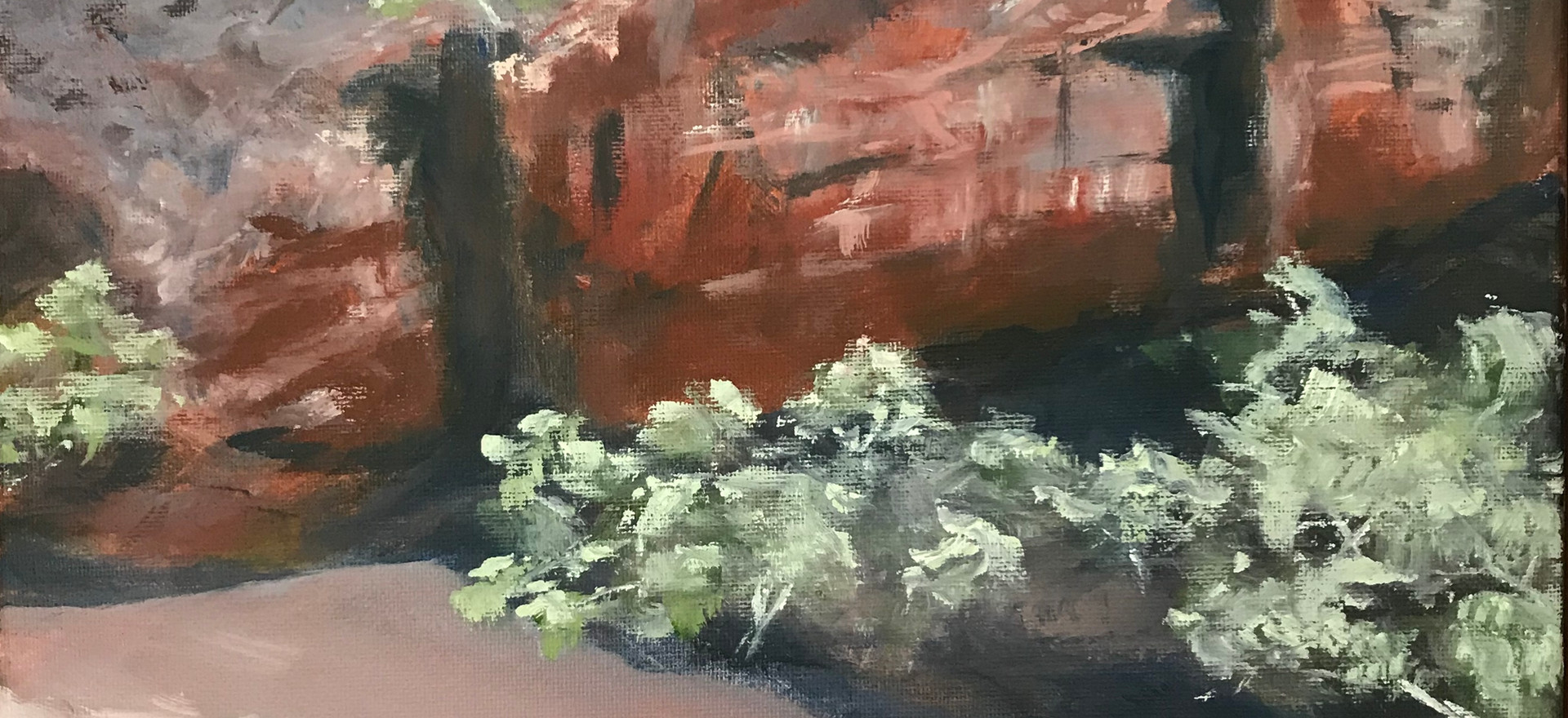 Ormiston Gorge Beach by Catherine Fox.