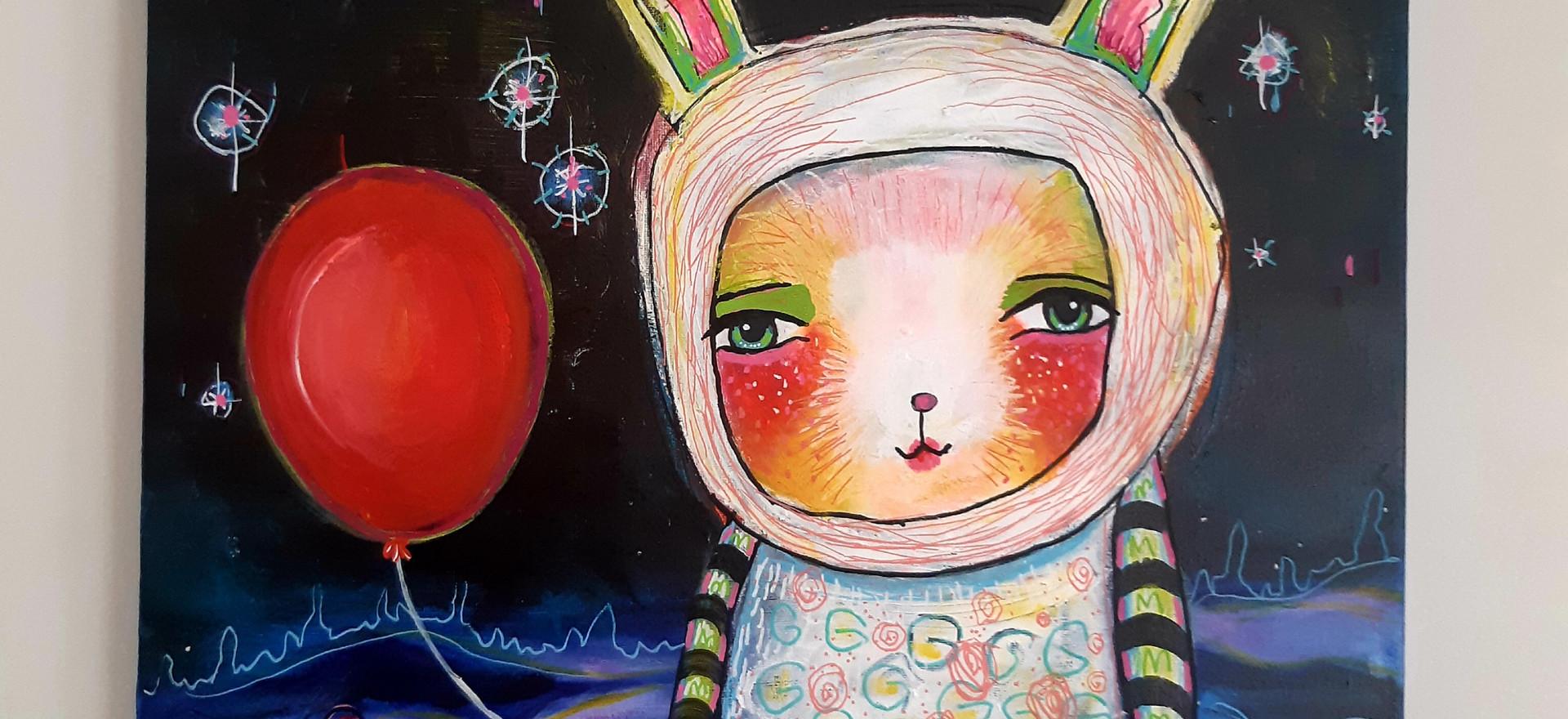 Bunny Baloon by Gail Gamacho
