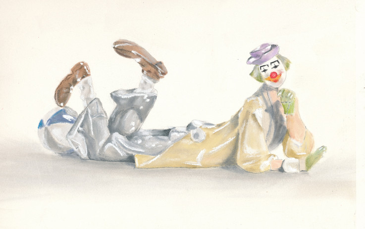 Lladro Porcelain Figure ~ Clown.