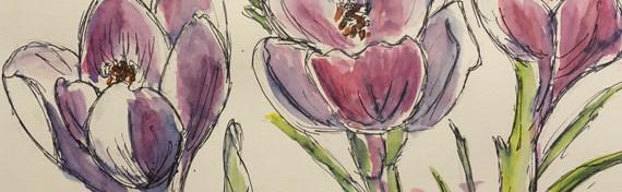 Purple Flowers by Beth Taylor