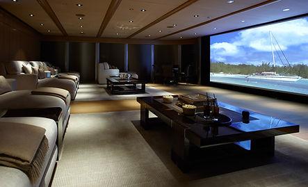 home theater projeção tela gigante