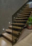 guarda-corpo em vidro para escadas