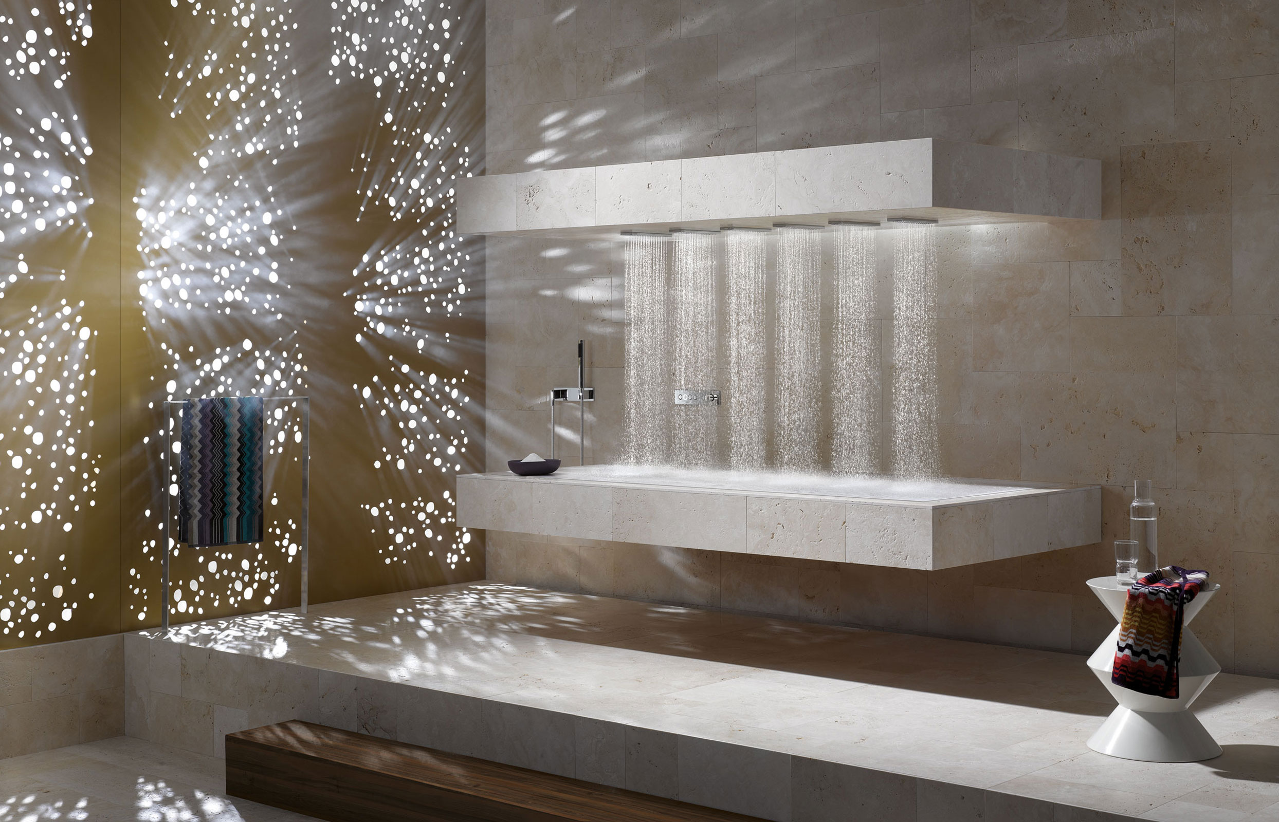 Horizontal Shower by Dornbracht