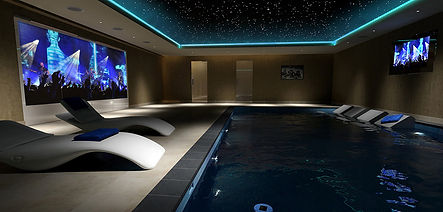Home Theater com Piscina