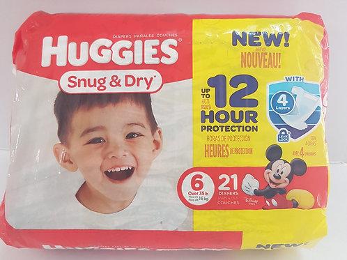 Huggies Snug & Dry (size 6)