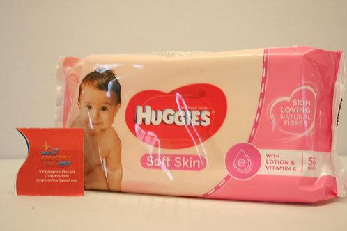 Huggies Soft Skin Baby Wipes  (56 Wipes)