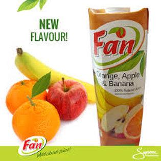 Fan Orange, Apple & Banana 1lt