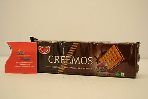 Anmol Creemos Chocolate  Cream Sandwiched Biscuits 85g