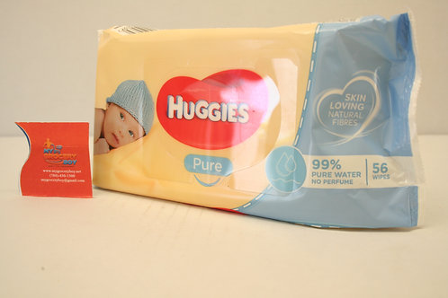 Huggies Pure Baby Wipes (56 wipes )