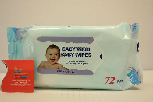 Baby Wish Wipes Fresh Scented (72 wipes)