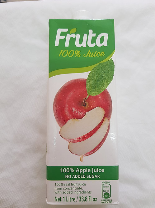 Fruta Premium Juice Apple 1lt 33.8lf oz