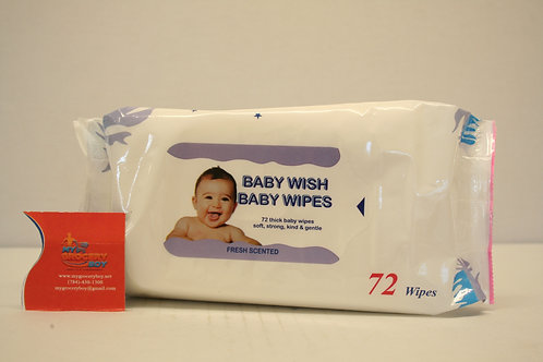 Baby Wish Wipes  White (72 wipes)