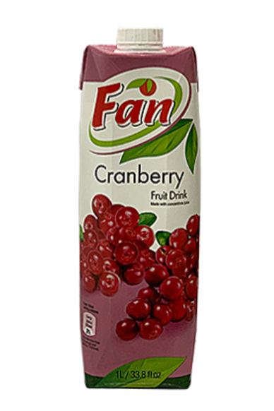 Fan Cranberry 1lt
