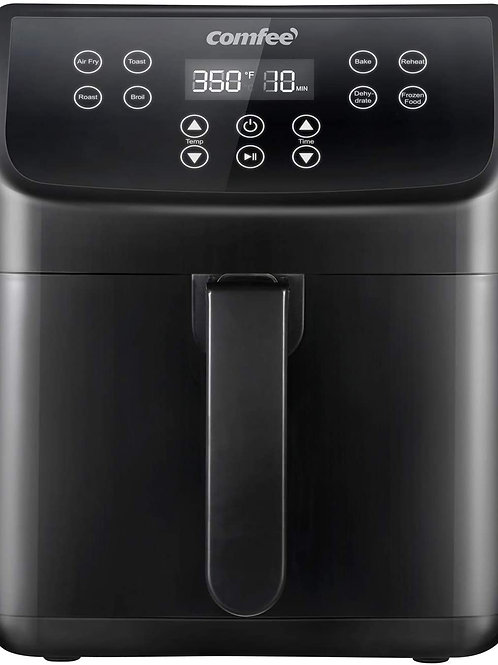 COMFEE' 5.8Qt Digital Air Fryer, Toaster Oven & Oilless Cooker, 1700W with 8 Pre