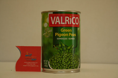 Valrico Green Pigeon Peas 15oz