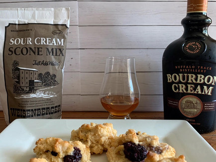 Black Raspberry Bourbon Scones