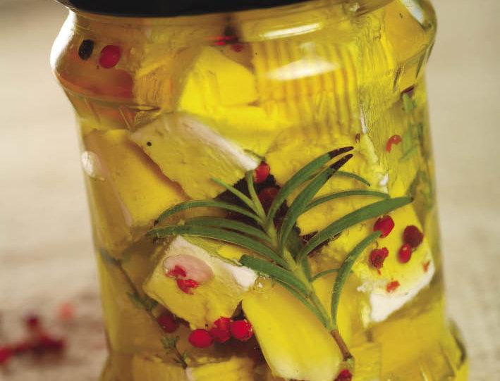 Kravlji sir u maslinovom ulju