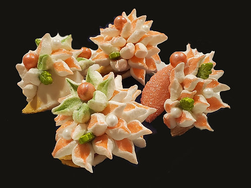 Coral Floral Assortment of 12 - Peach Mango