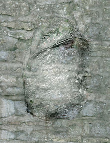 a digital drawn torso in a wall
