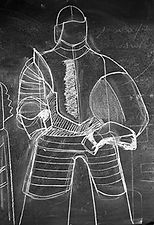 chalk drawing of armor