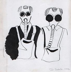Early WWI gasmasks