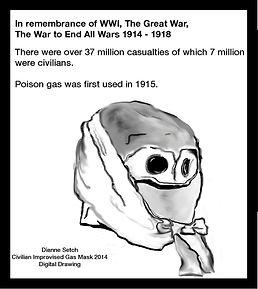 A WW1 civilian gas mask