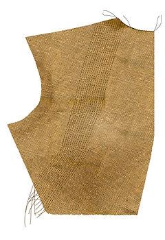 A hessian female bodice pattern