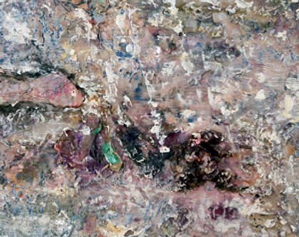 A detail of a painting about the beach