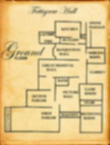 Ground floor map of Fettigrew Hall