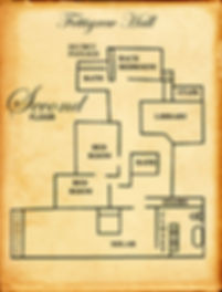 Second Floor map of Fettigrew Hall