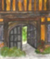 Gatehouse watercolor by Anne Flint