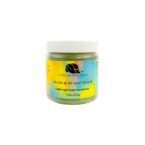 Hair & Scalp Balm, Lightweight, Non-Pore Clogging, 4oz jar