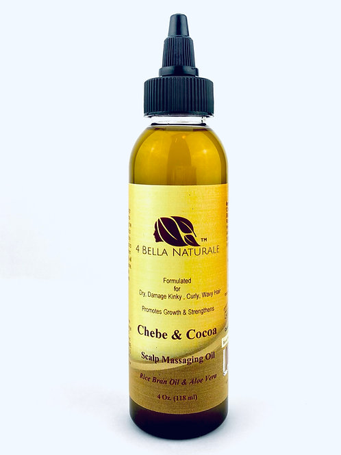 Chebe & Cocoa Scalp Massaging Oil, Hot Oil Treatment, Hair Growth Oil, Ayurvedic