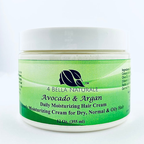 Avocado & Argan Oil Daily Moisturizer Hair Cream