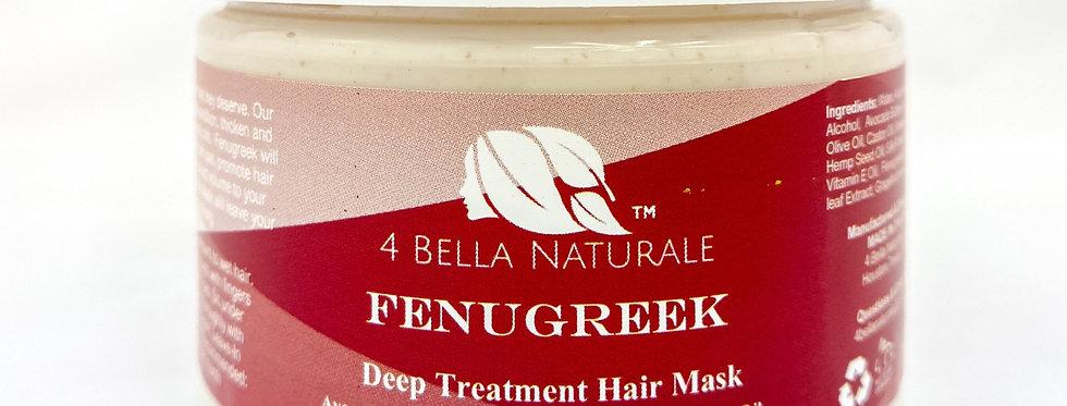 Fenugreek Deep Treatment Hair Mask 12oz- Protein Rich, Volumizing, Natural, Orga