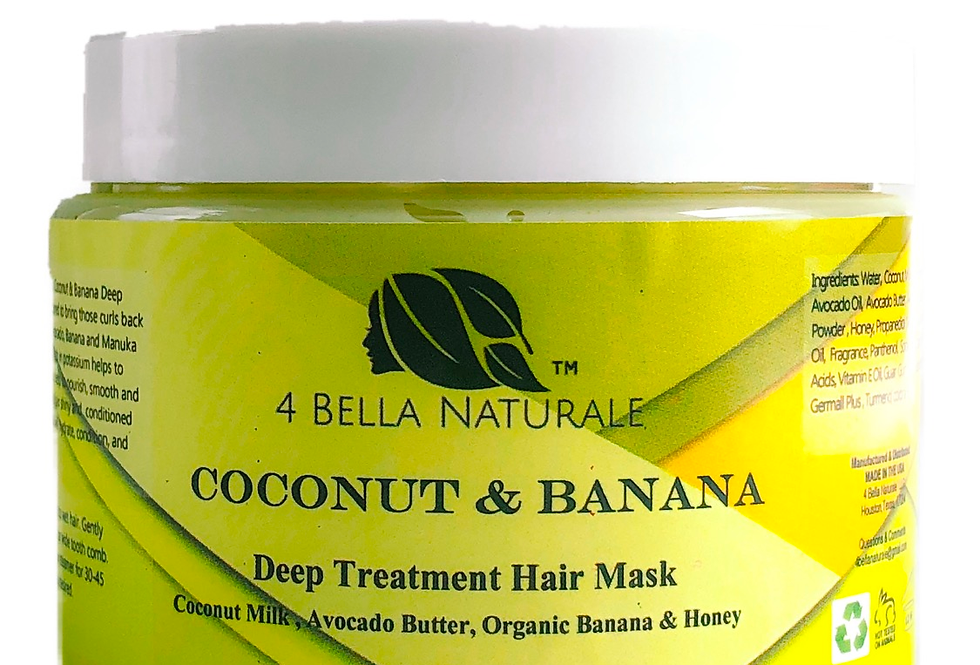 Coconut, Avocado, & Banana Deep Treatment Hair Mask