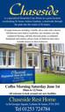 Dementia Cafe - Saturday 1st June 10.00 - 12.00