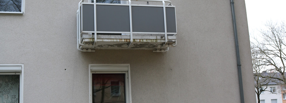Balkon von außen