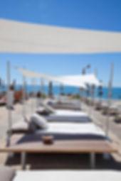 Beach restaurant & loundge ACD on Sète beach
