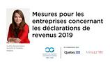COVID - 19 : Mesures pour les entreprises concernant les déclarations de revenus 2019