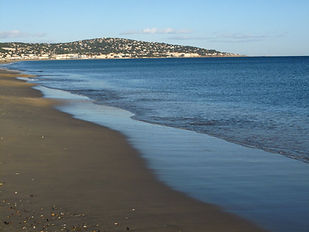 View of Sète from the beach