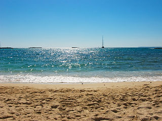 Sea view from the beach of Sète