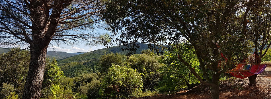 View from the garden of Magic Hill Retreat Center